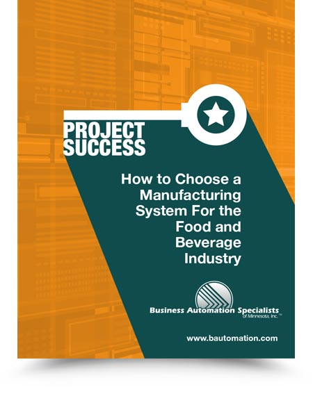 Whitepaper - Hot to Choose a Manufacturing System for the Food and Beverage Industry