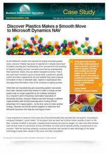 Discover Plastics Makes a Smooth Move to Microsoft Dynamics NAV
