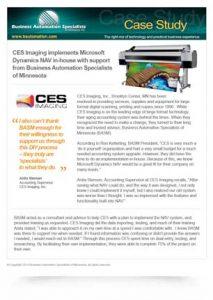 CES Imaging Microsoft Dynamics NAV