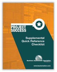 ERP Planning, Selection & Implementation - Checklist